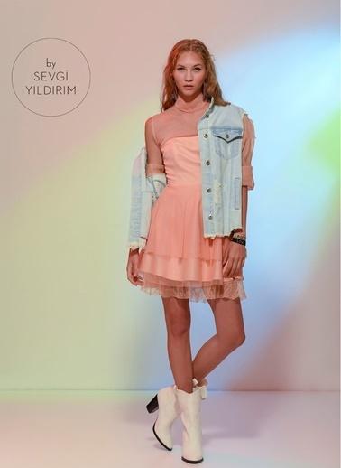 Agenda Sevgi Yıldırım Tasarımı Elbise Pudra